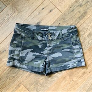 Express Camouflage Cotton Shorts